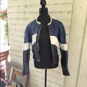 Other - Uber distressed leather rider jacket size 38